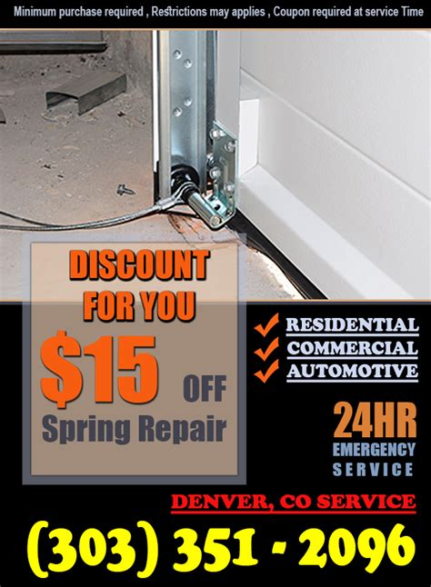 garage door springs denver replacement denver replace garage door springs