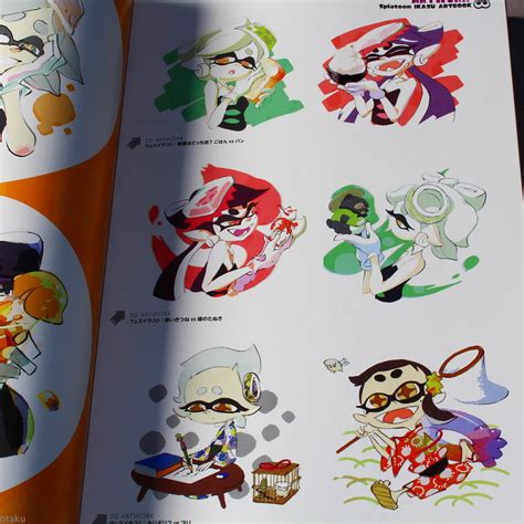 libro art of splatoon the splatoon ikasu art book japan wii game art book illustration new ebay