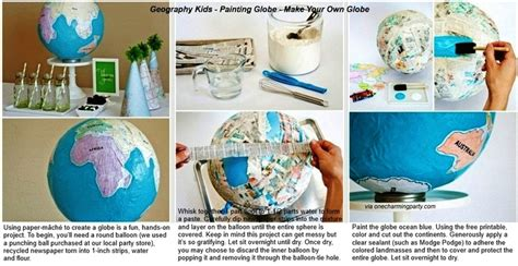 Make Your Own Paper Mache - geography make your own paper mache globe via