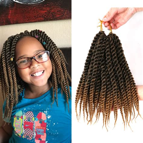 kids toyokalon braiding hair 12 quot short twist hair synthetic crochet braids hair