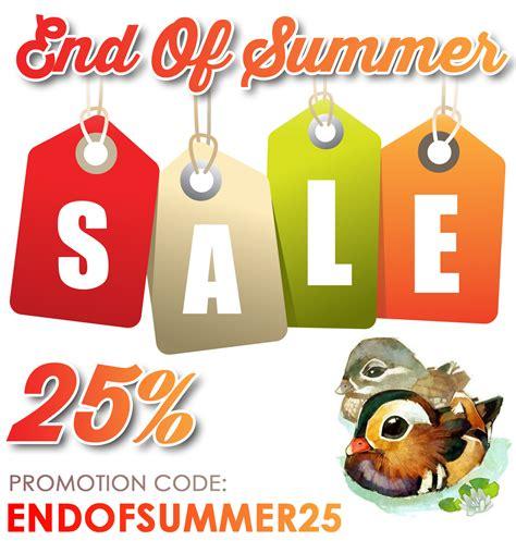 Summer 1 6 End mandarin duck end of summer sale