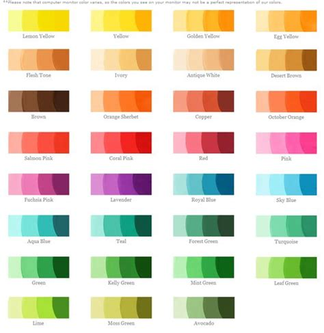different color schemes 1000 ideas about food coloring chart on pinterest food