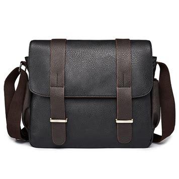 Tas Selendang Bahan Kulit tas selempang pria bahan kulit leather messenger bag black jakartanotebook