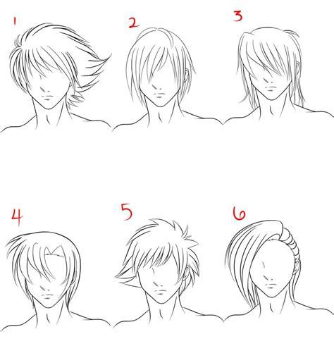 anime hairstyles guys tutorial anime male hair style 1 by ruuruu chan on deviantart