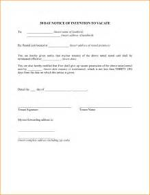 30 day move out notice template printable sle tenant 30 day notice to vacate form