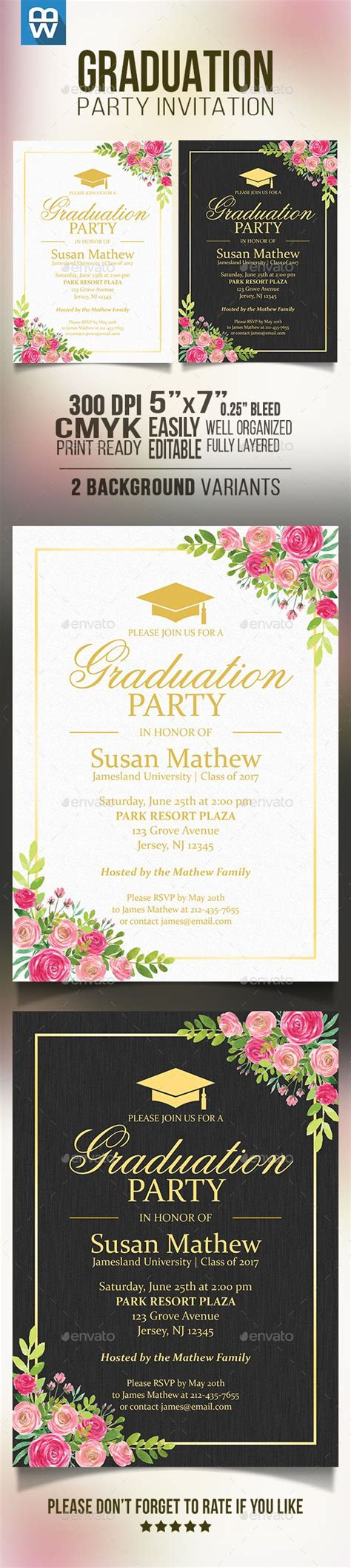 25 Unique Invitation Templates Ideas On Pinterest Free Invitation Templates Birthday Graduation Invitation Template
