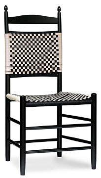 appalachian style ladder  chair  woven seat stuff ross built ladder  chairs