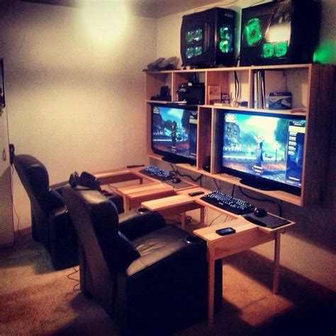 computer setup room best 25 video game rooms ideas on pinterest man cave