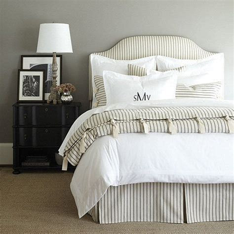 Ballard Designs Bedding ticking stripe bedding black traditional home decor