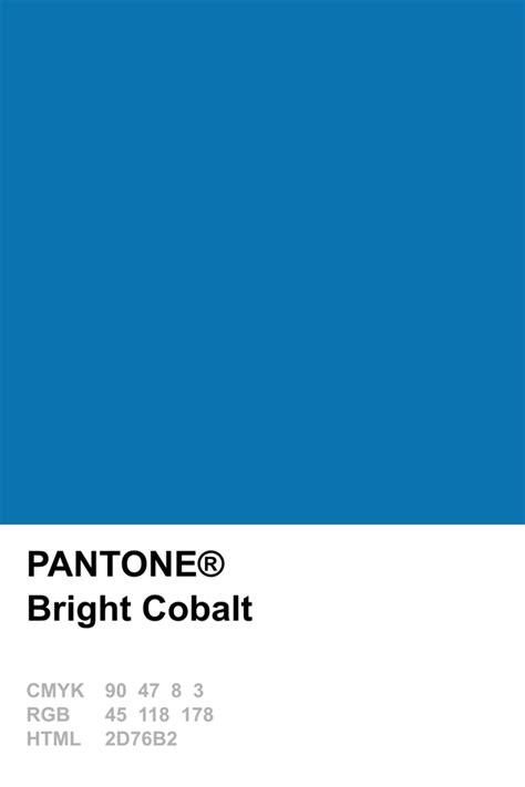 cobalt blue color pantone 2014 bright cobalt pantone pantone