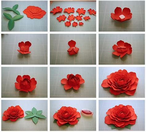 How To Make Paper Mache Roses -