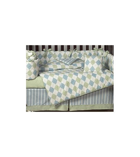 Green Crib Set by Sweet Jojo Designs Argyle Green Blue 9 Crib