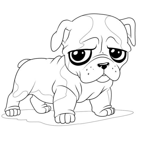 coloring pages of bulldogs french bulldog puppy coloring page for kids animal