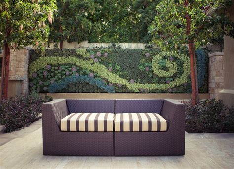 Bright Green Living Wall Planter by Outdoor Living Wall Patio Los Angeles