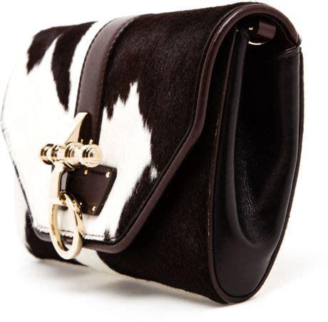 Jimmy Choo Ponyskin Leather Clutch Review by Givenchy Obsedia Ponyskin And Leather Clutch Bag In Brown