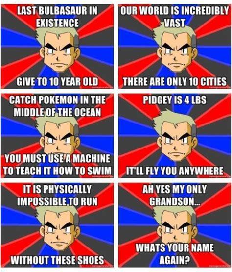 Professor Oak Meme - pokemon memes