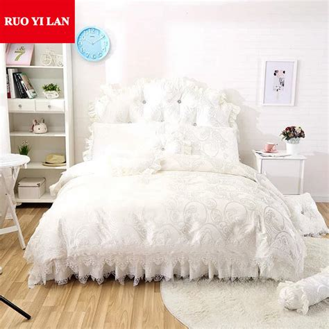 popular white satin bedspread buy cheap white satin