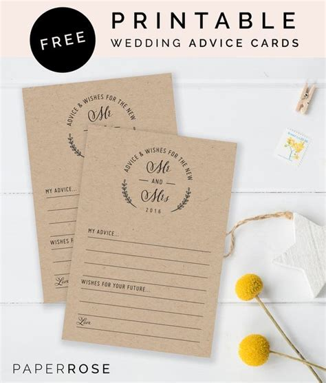 Wedding Advice Cards Printable by Simple Receptions And Sweet On