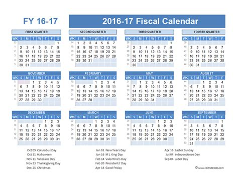 2016 Calendar Year Financial Year Calendar 2016 Printable Calendar Template