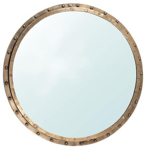 industrial brass rivet mirror frame industrial wall
