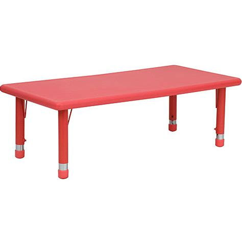 Walmart Plastic Tables by Adjustable Height Rectangular Plastic Activity Table
