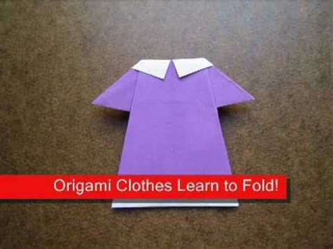 Origami For Clothes - paper folding origami baby clothes