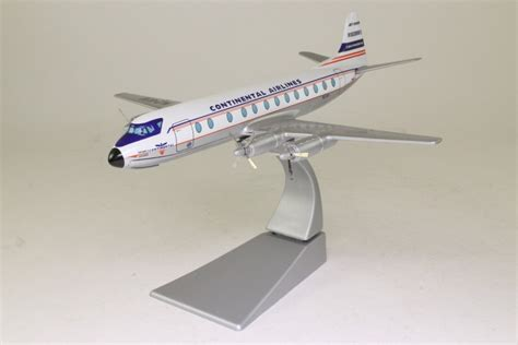 Corgi Aviation Archive 1 144 Vickers Viscount Continental Airlines 47603 corgi aviation archive vickers viscount 800 continental airlines n241v