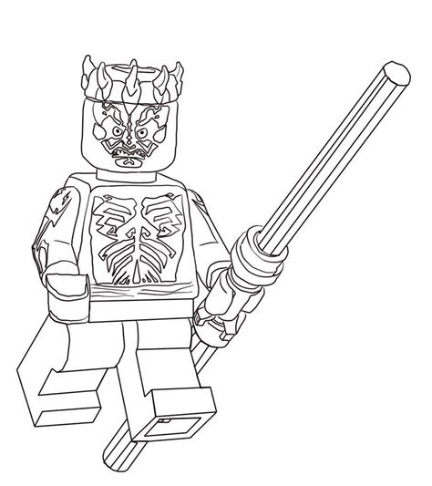 coloring pages darth maul lego wars darth maul free printable coloring pages