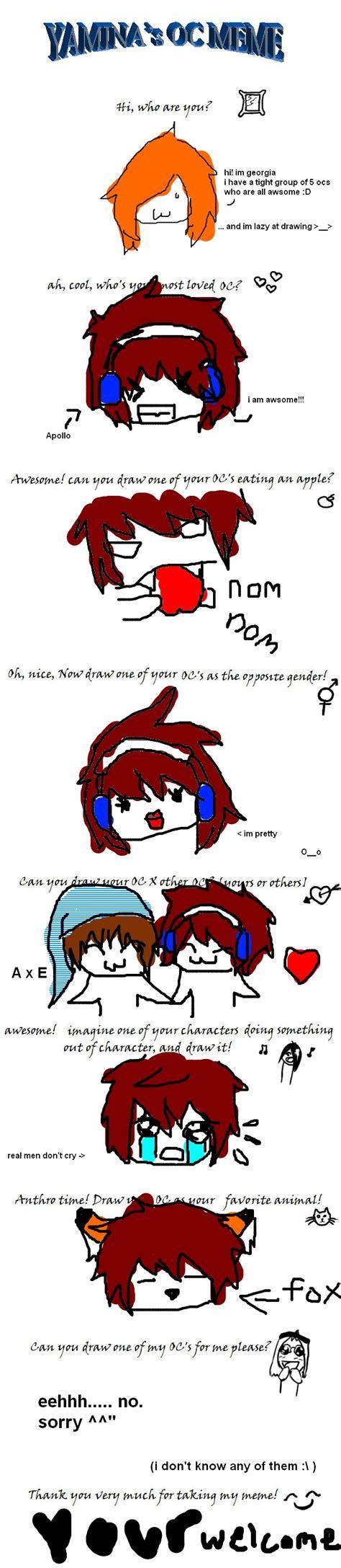 Original Character Meme - original character meme by georgiatheninja on deviantart