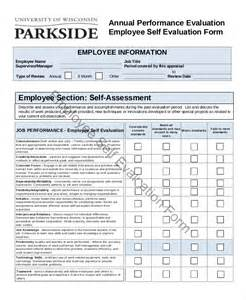 Annual Employee Evaluation Template by Employee Evaluation Form Exle 11 Free Word Pdf