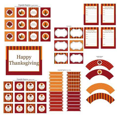 printable tags for thanksgiving free thanksgiving party printables from cupcake express