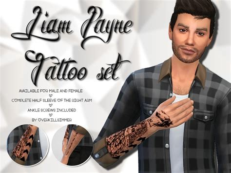 liam payne tattoos overkill simmer s liam payne set