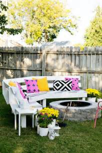 Backyard Ideas For Small Spaces Build Your Own Curved Fire Pit Bench A Beautiful Mess