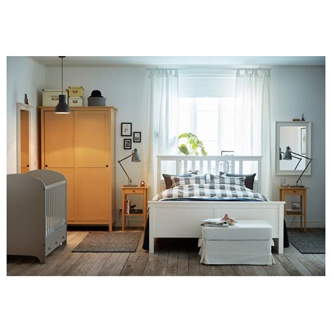 ikea double bed size hemnes bed frame white stain lur 246 y standard double ikea