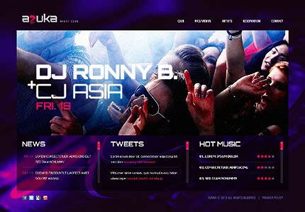 50 Creative Single Page Website Designs Using Html5 And Jquery Entheos Dj Website Design Templates