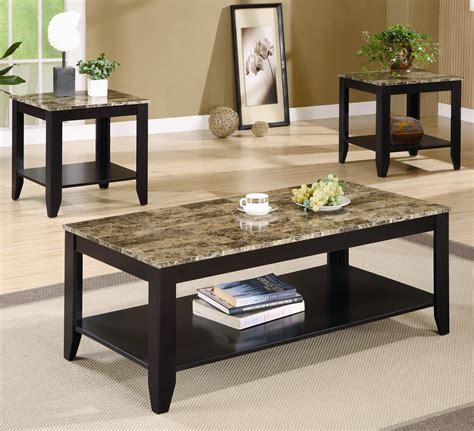 3 piece living room table set 3 piece table set for living room collection and sets
