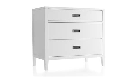 3 drawer dresser white arch white 3 drawer chest in dressers chests crate and