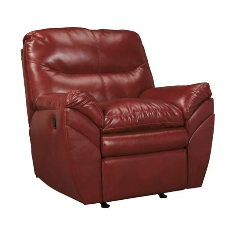 ashley durablend rocker recliner ashley tassler durablend leather rocker recliner in