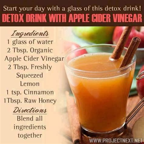 Vinegar Lemon Honey Cinnamon Detox apple cider vinegar with lemon cinnamon and honey detox