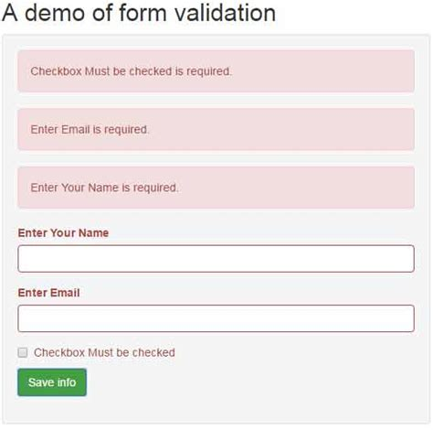 tutorial jquery validation form jquery form validation with bootstrap 4 exles