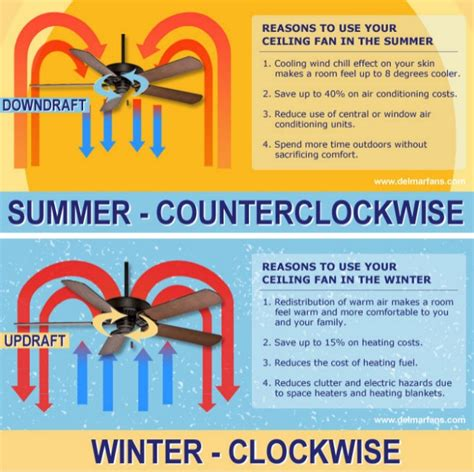 Ceiling Fan Direction Winter Summer by Ceiling Fan Direction For Summer And Winter