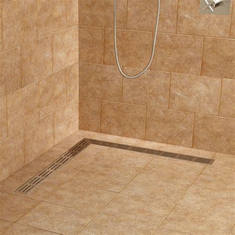 1800 L Shaped Shower Bath loup l shaped linear shower drain shower and tub drains