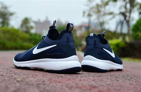 slip on nike running shoes newest nike air current slip on navy blue white sportswear