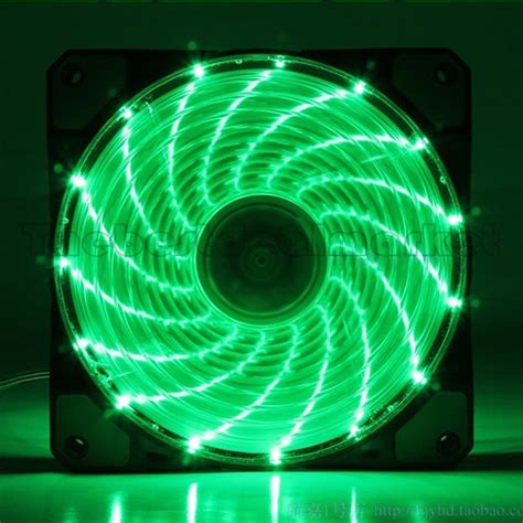 green led computer fan ultra bright 120mm acrylic fan dazzling green led