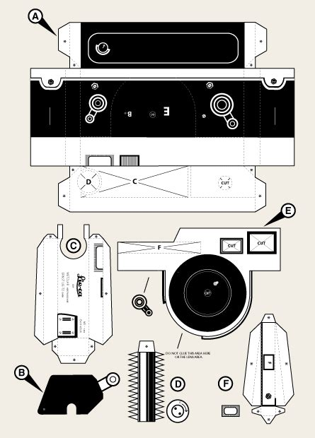 printable paper camera made by store the lieca m3 pinhole camera