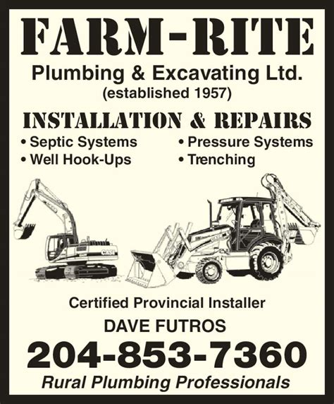 Rite Plumbing by Farm Rite Plumbing Excavating Ltd Canpages