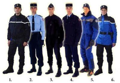 treillis gendarmerie tenue differentes d un gendarme adjoint