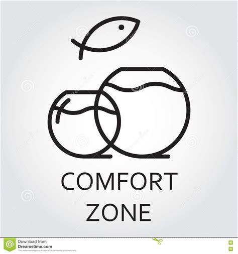 symbol for comfort black flat line vector icon comfort zone as aquarium stock