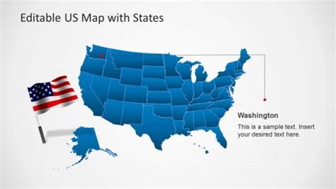 us map highlight states us map template for powerpoint with editable states