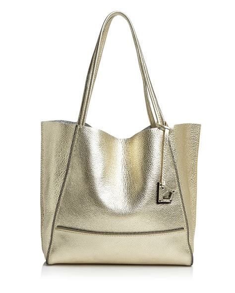 Botkier Large Tote by Botkier Tote Soho Metallic In Gray Slate Silver Lyst